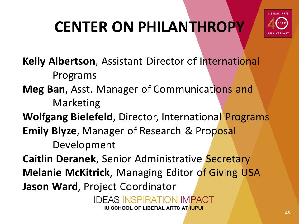 CENTER ON PHILANTHROPY