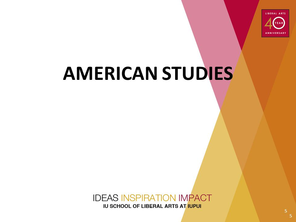 AMERICAN STUDIES Subir to do introduction; neither Michael nor Martin can attend 5 5