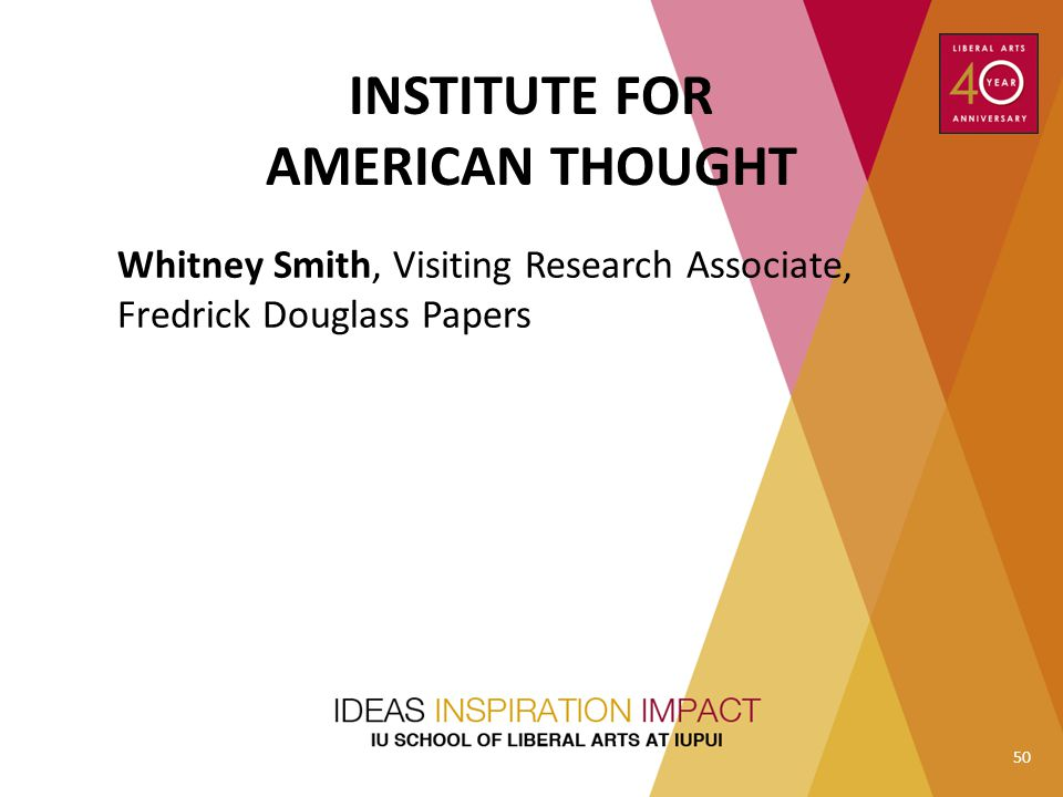 INSTITUTE FOR AMERICAN THOUGHT