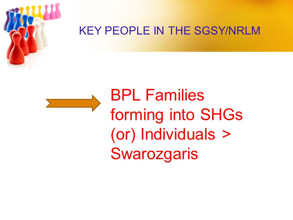 BPL Families forming into SHGs (or) Individuals >