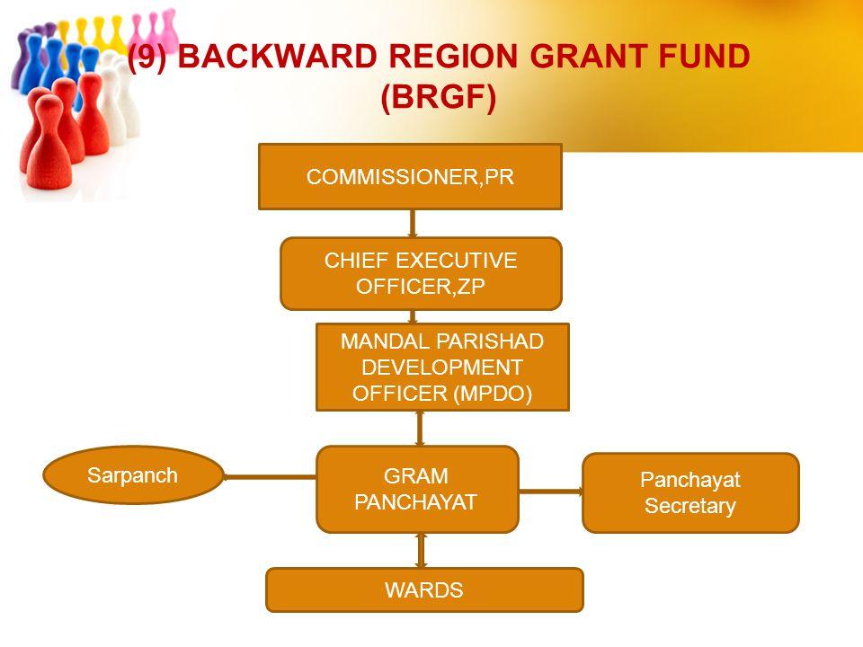 (9) BACKWARD REGION GRANT FUND (BRGF)