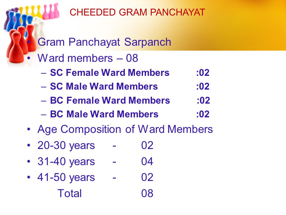 Gram Panchayat Sarpanch Ward members – 08