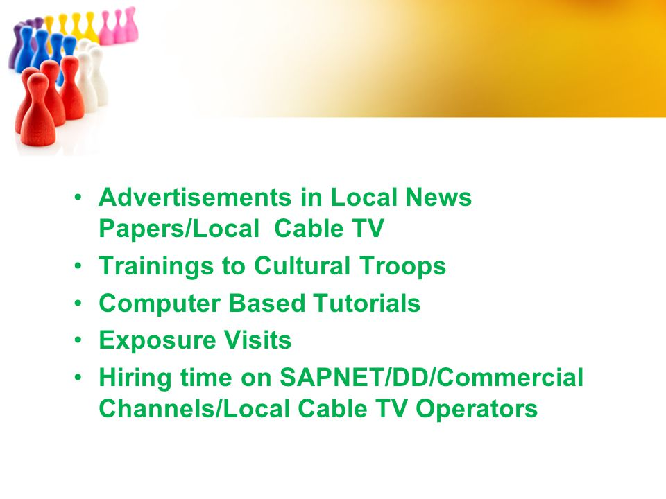Advertisements in Local News Papers/Local Cable TV