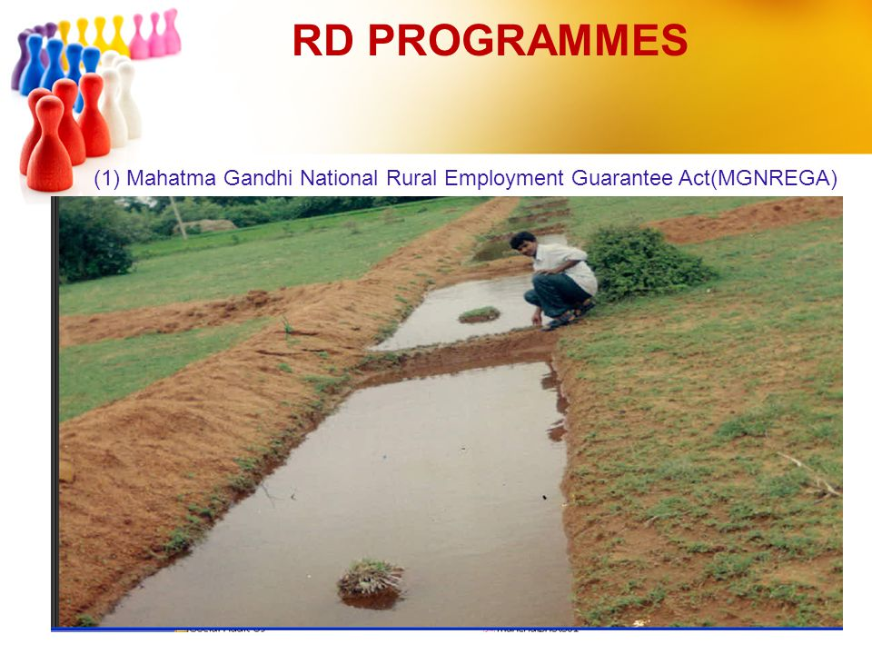 RD PROGRAMMES (1) Mahatma Gandhi National Rural Employment Guarantee Act(MGNREGA)