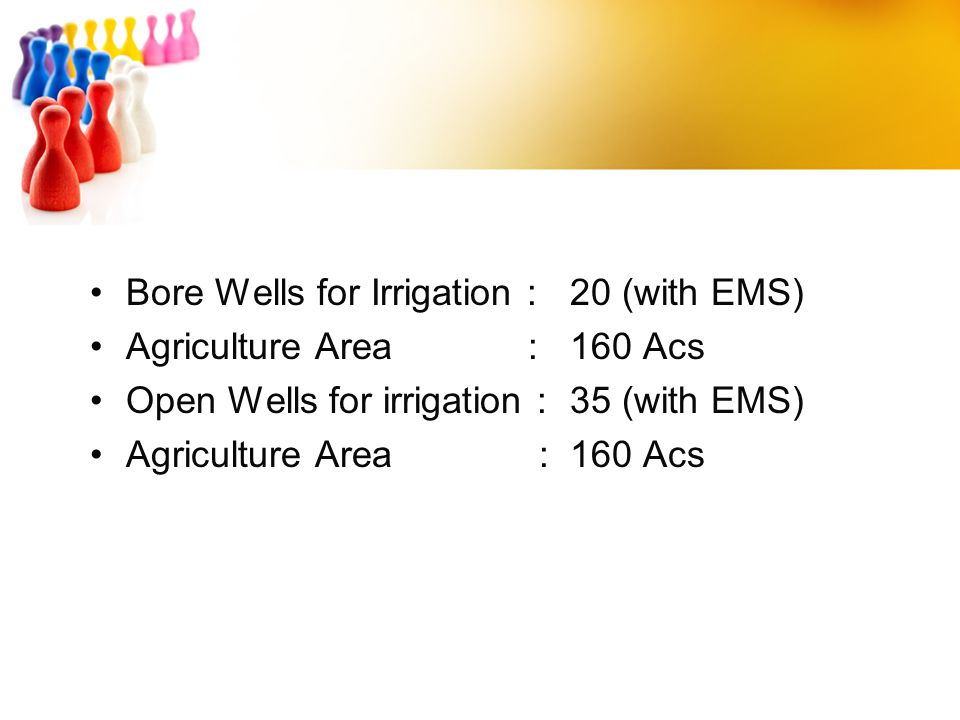Bore Wells for Irrigation : 20 (with EMS)