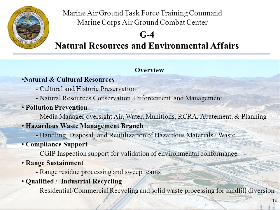 G-4 Natural Resources and Environmental Affairs
