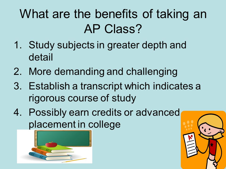 What are the benefits of taking an AP Class