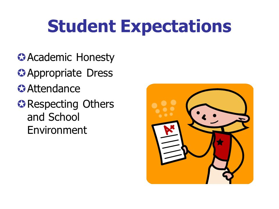 Student Expectations Academic Honesty Appropriate Dress Attendance