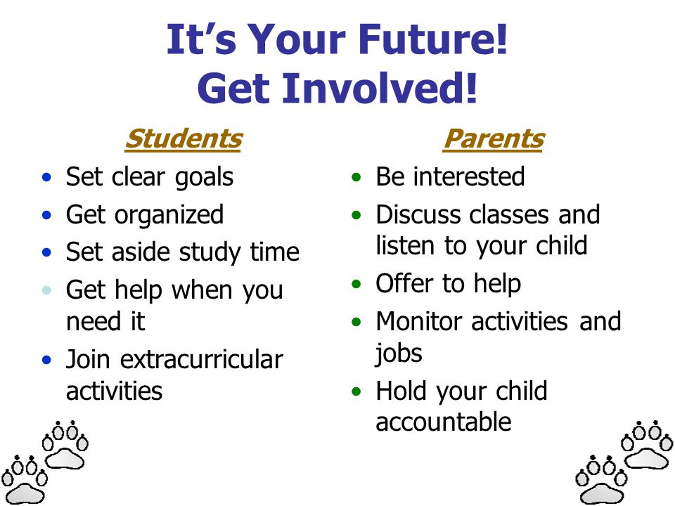 It's Your Future! Get Involved!