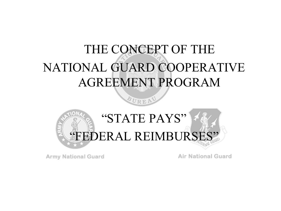 NATIONAL GUARD COOPERATIVE AGREEMENT PROGRAM