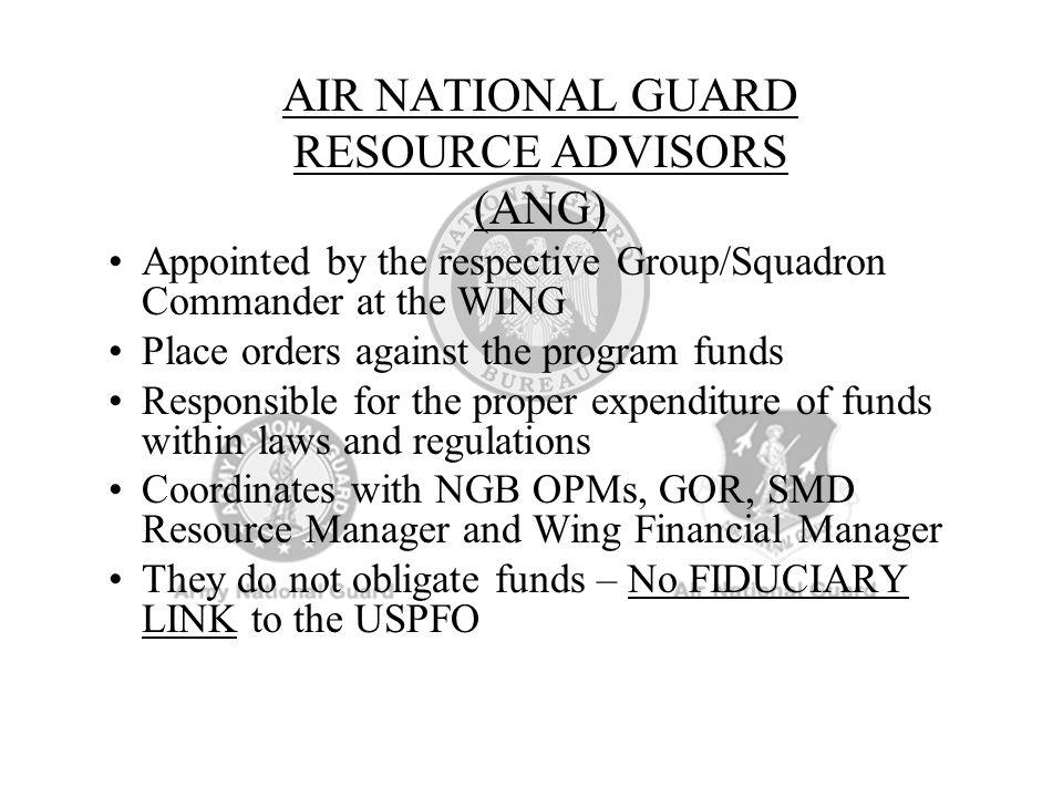 AIR NATIONAL GUARD RESOURCE ADVISORS (ANG)