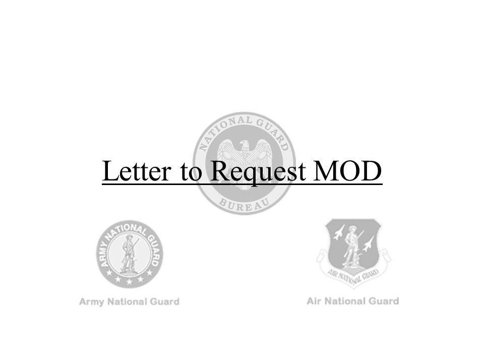 Letter to Request MOD
