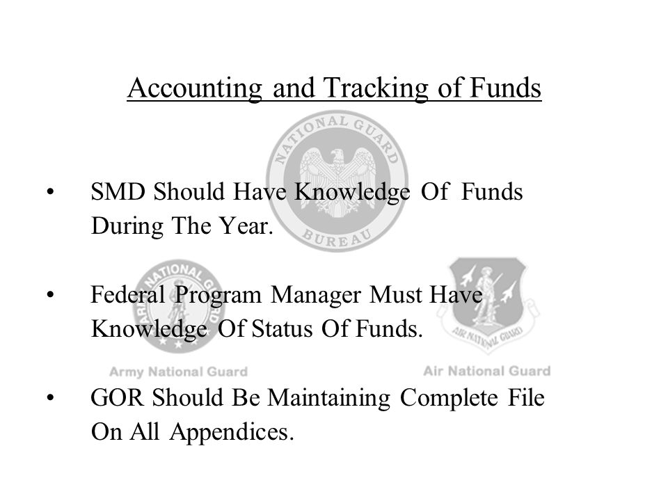 Accounting and Tracking of Funds
