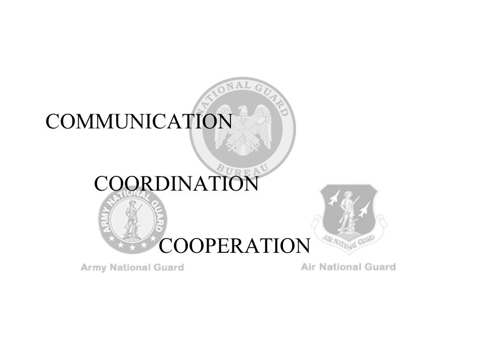 COMMUNICATION COORDINATION COOPERATION