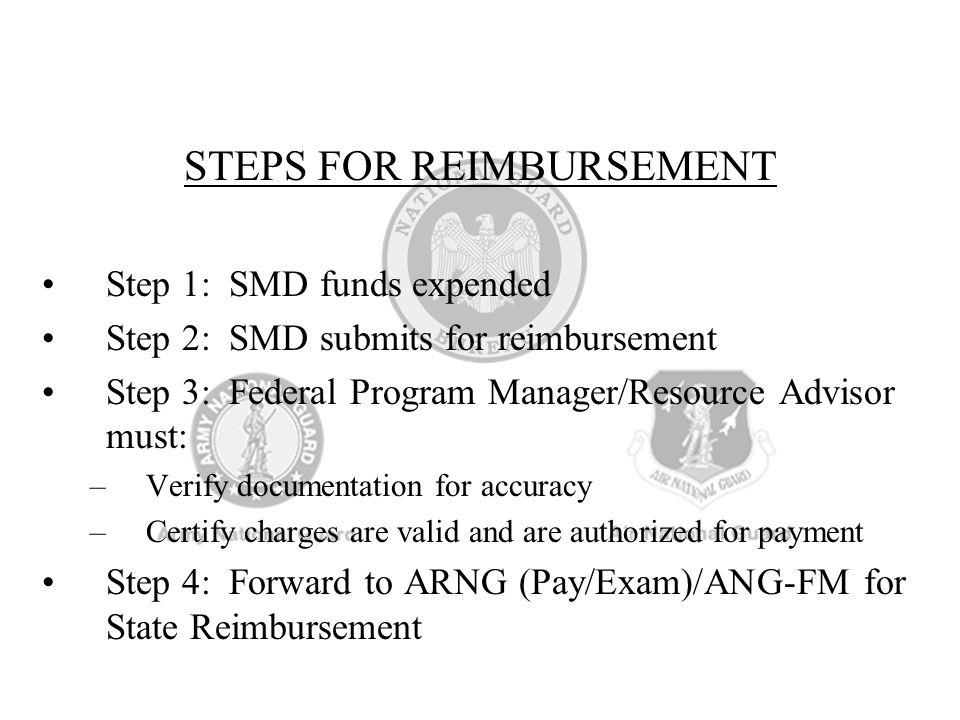STEPS FOR REIMBURSEMENT
