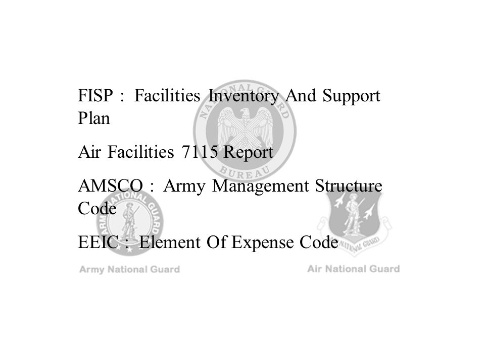 FISP : Facilities Inventory And Support Plan