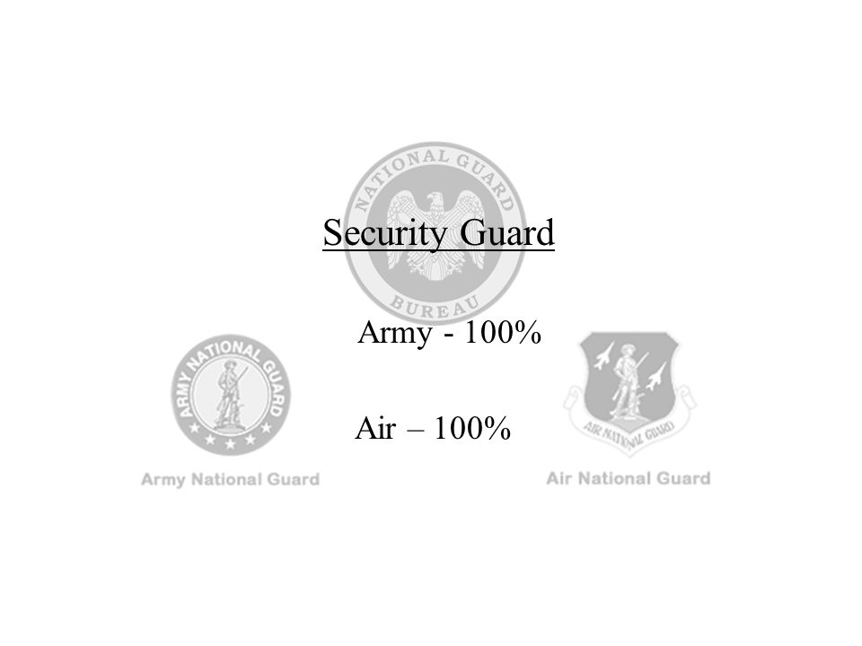 Security Guard Army - 100% Air – 100%