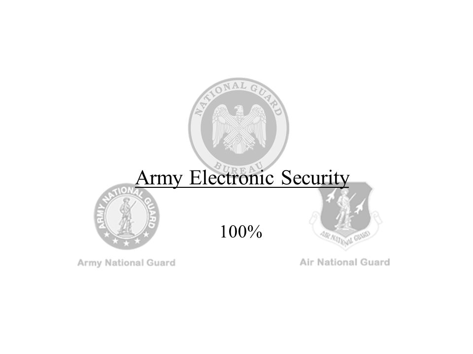 Army Electronic Security