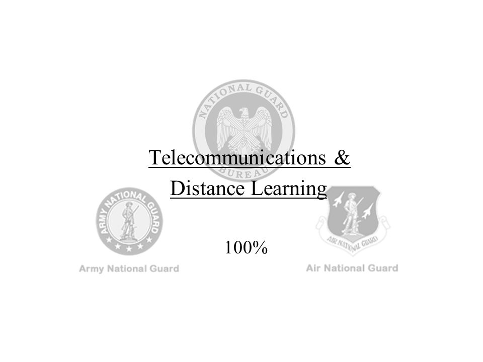 Telecommunications & Distance Learning 100%