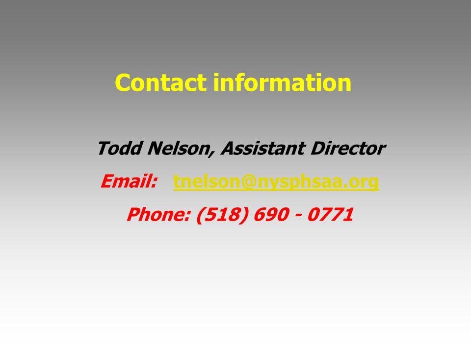 Todd Nelson, Assistant Director