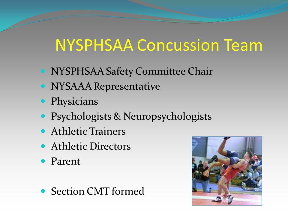 NYSPHSAA Concussion Team