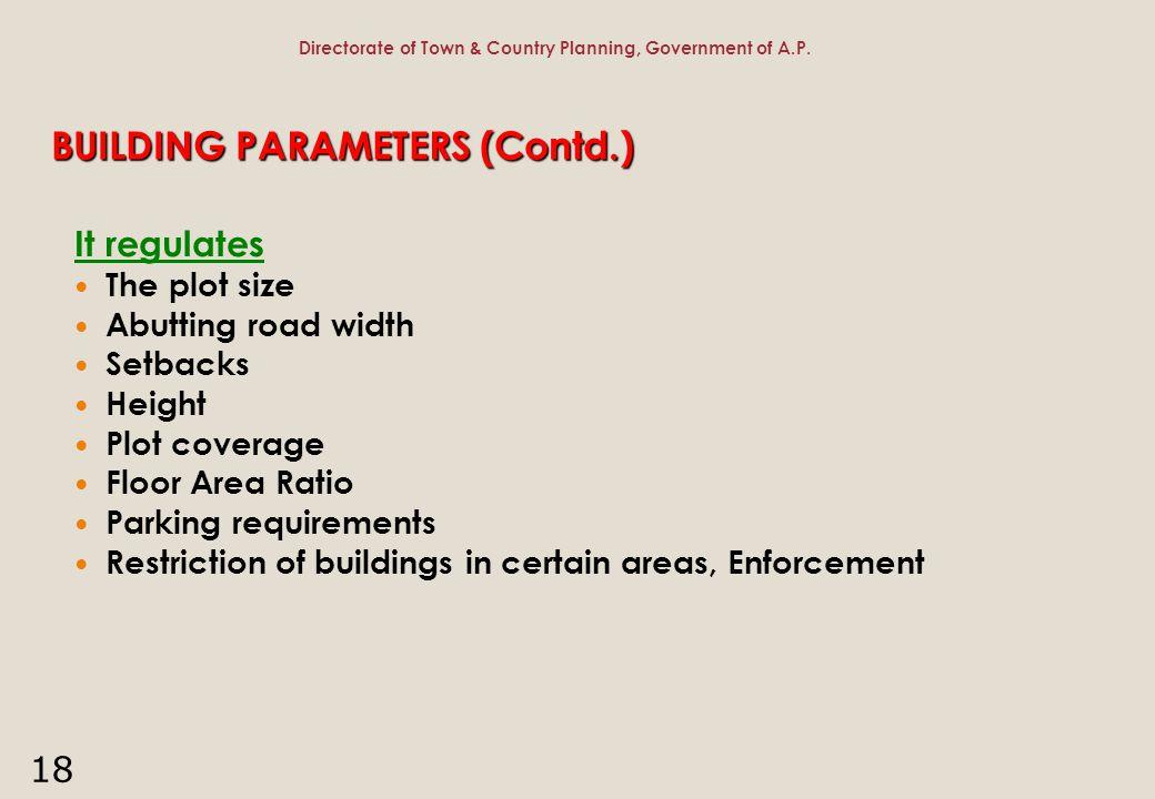 BUILDING PARAMETERS (Contd.)