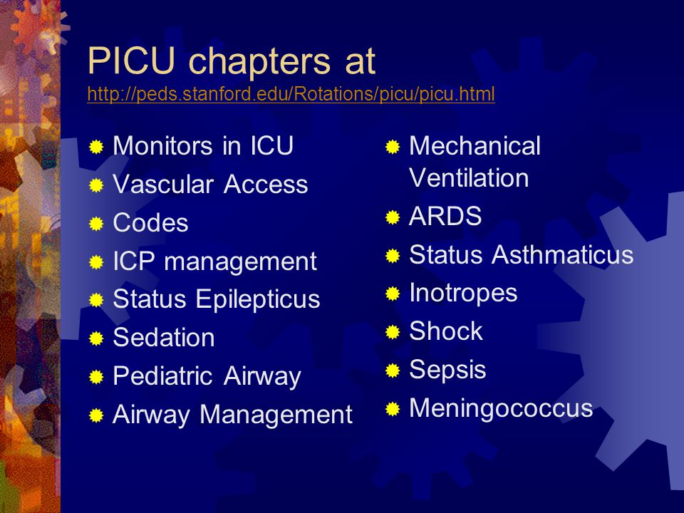 PICU chapters at http://peds.stanford.edu/Rotations/picu/picu.html