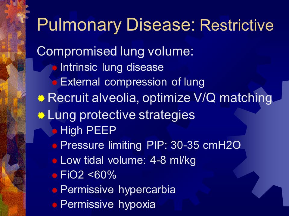 Pulmonary Disease: Restrictive
