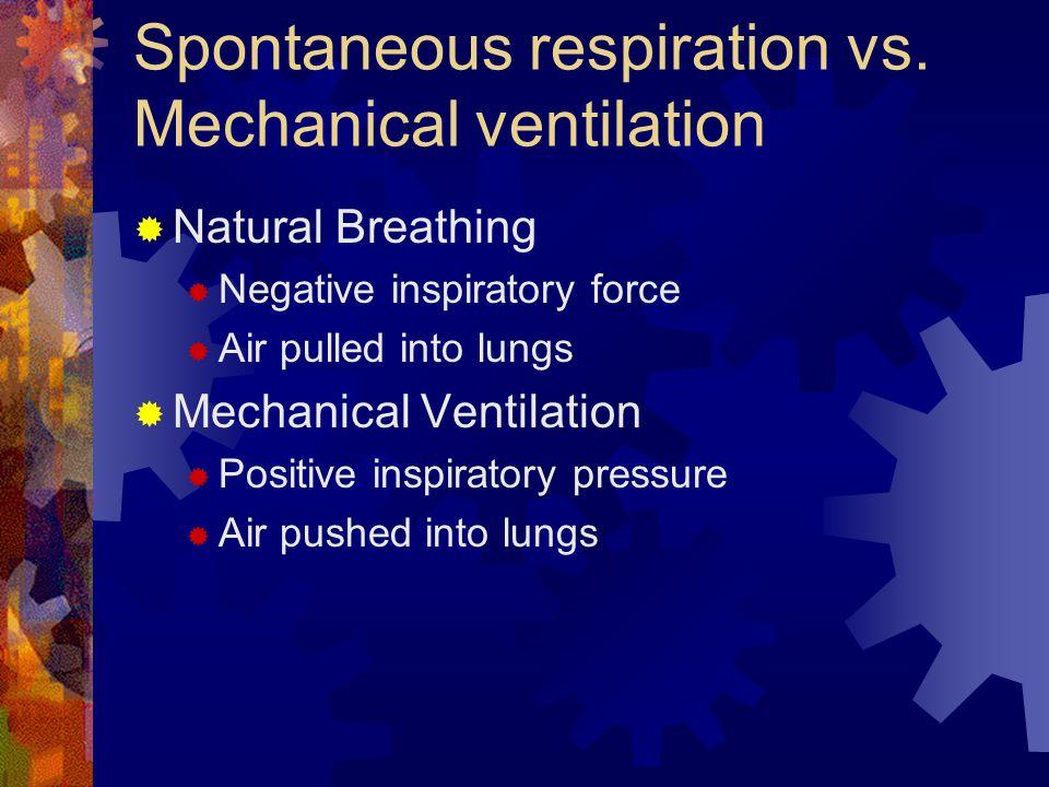 Spontaneous respiration vs. Mechanical ventilation