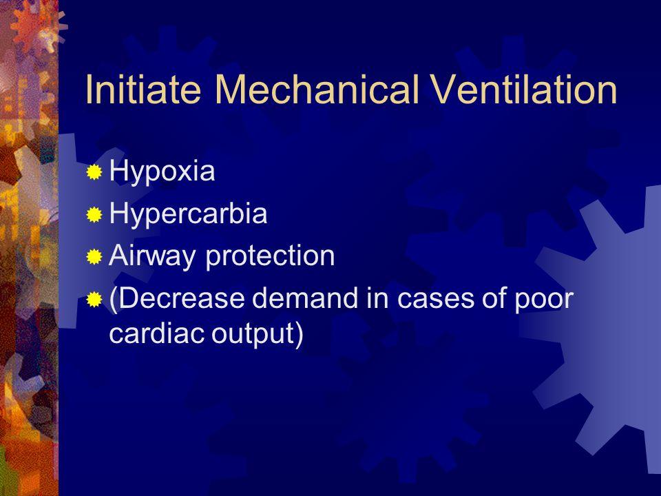 Initiate Mechanical Ventilation