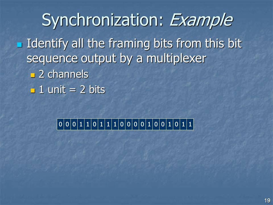 Synchronization: Example