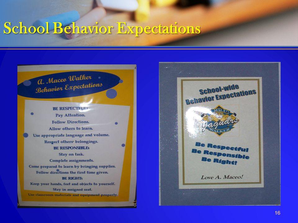 School Behavior Expectations