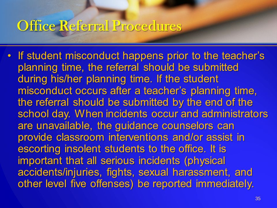 Office Referral Procedures