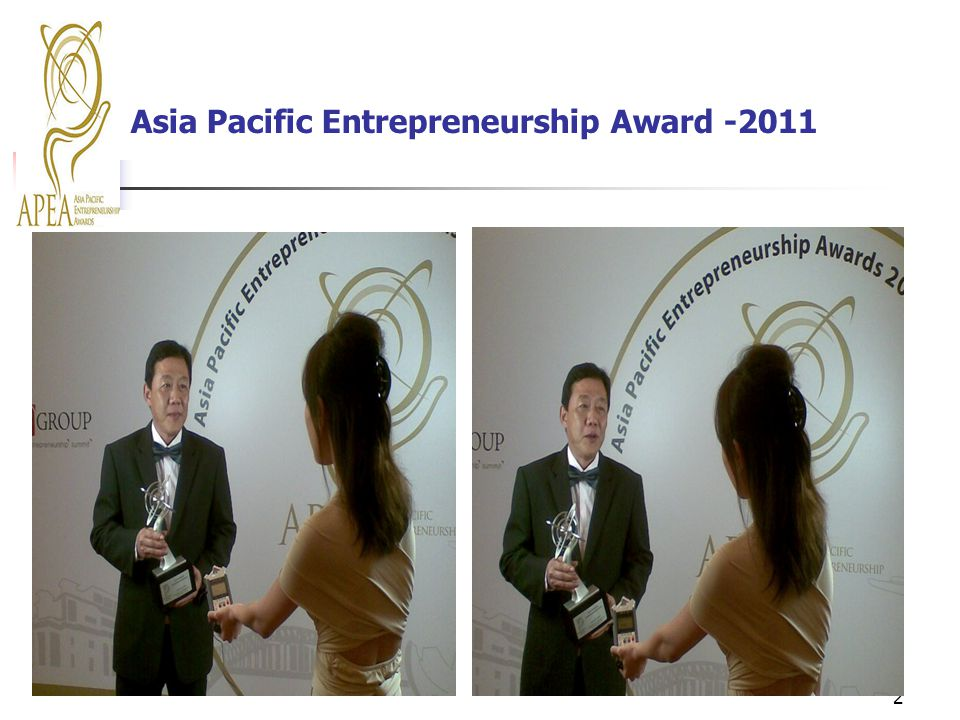 Asia Pacific Entrepreneurship Award -2011