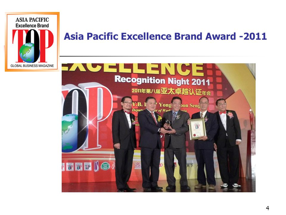 Asia Pacific Excellence Brand Award -2011