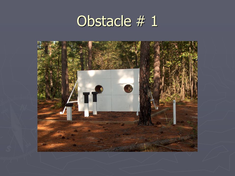 Obstacle # 1