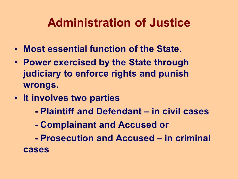 Administration of Justice