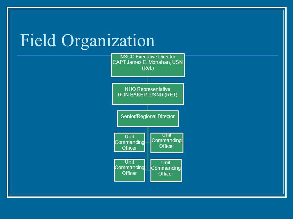 Field Organization NHQ Representative NSCC Executive Director