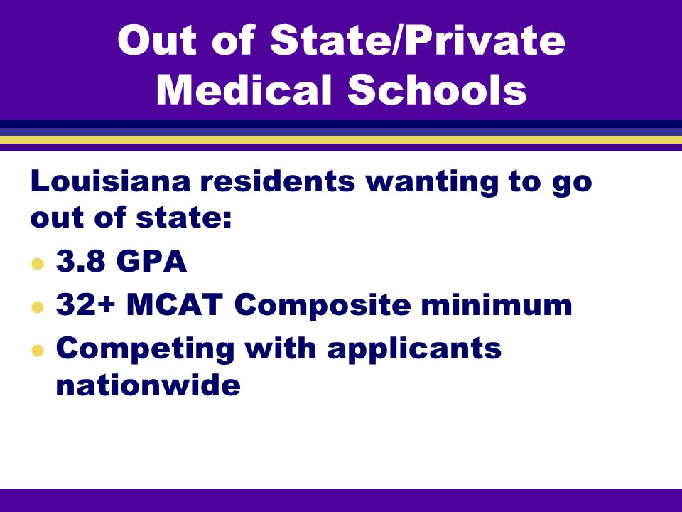 Out of State/Private Medical Schools