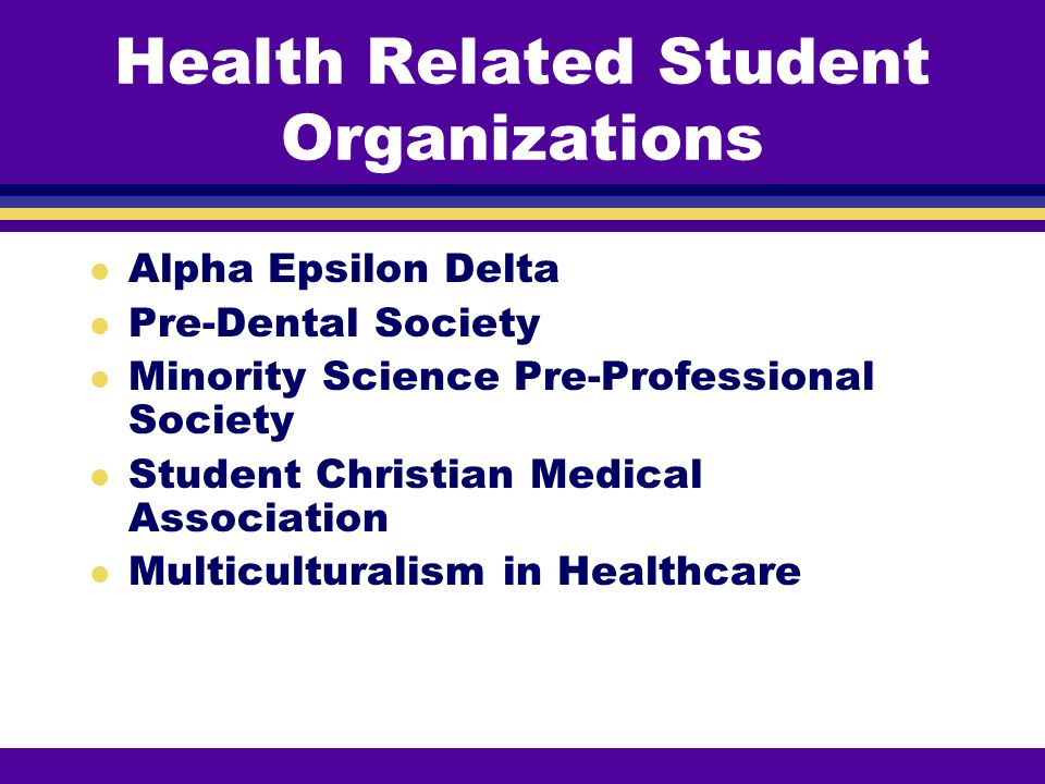 Health Related Student Organizations