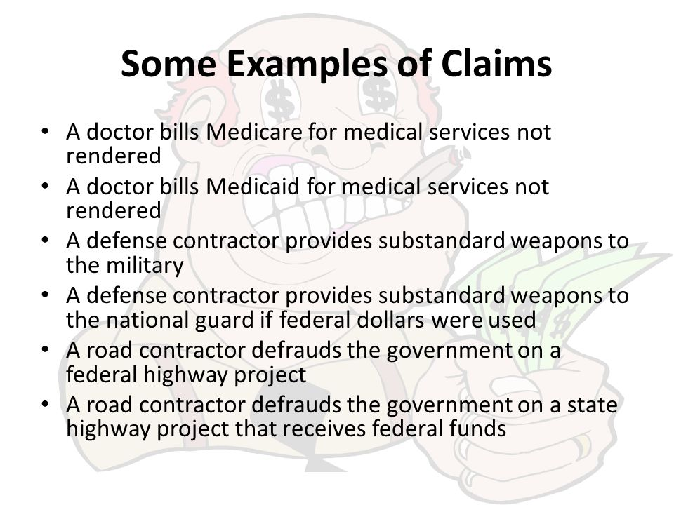 Some Examples of Claims