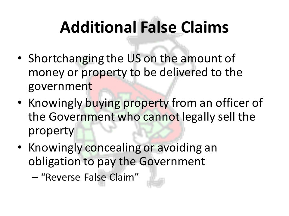 Additional False Claims