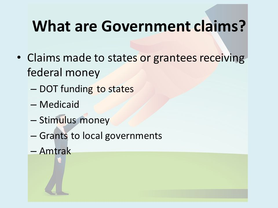 What are Government claims