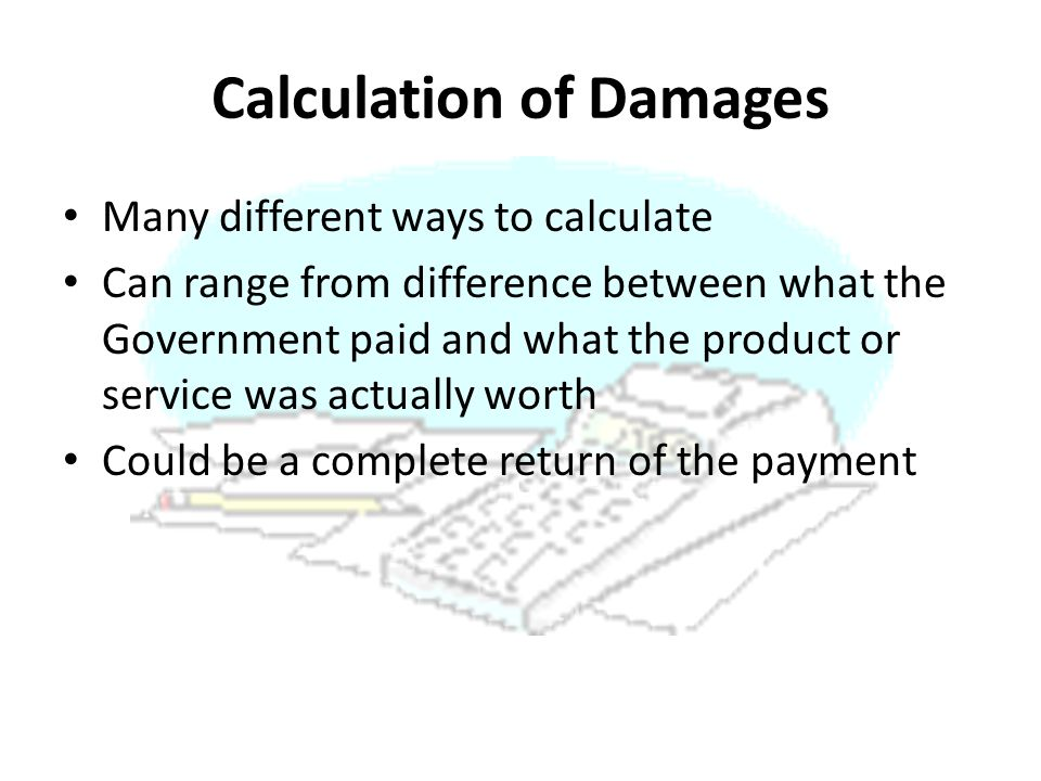 Calculation of Damages