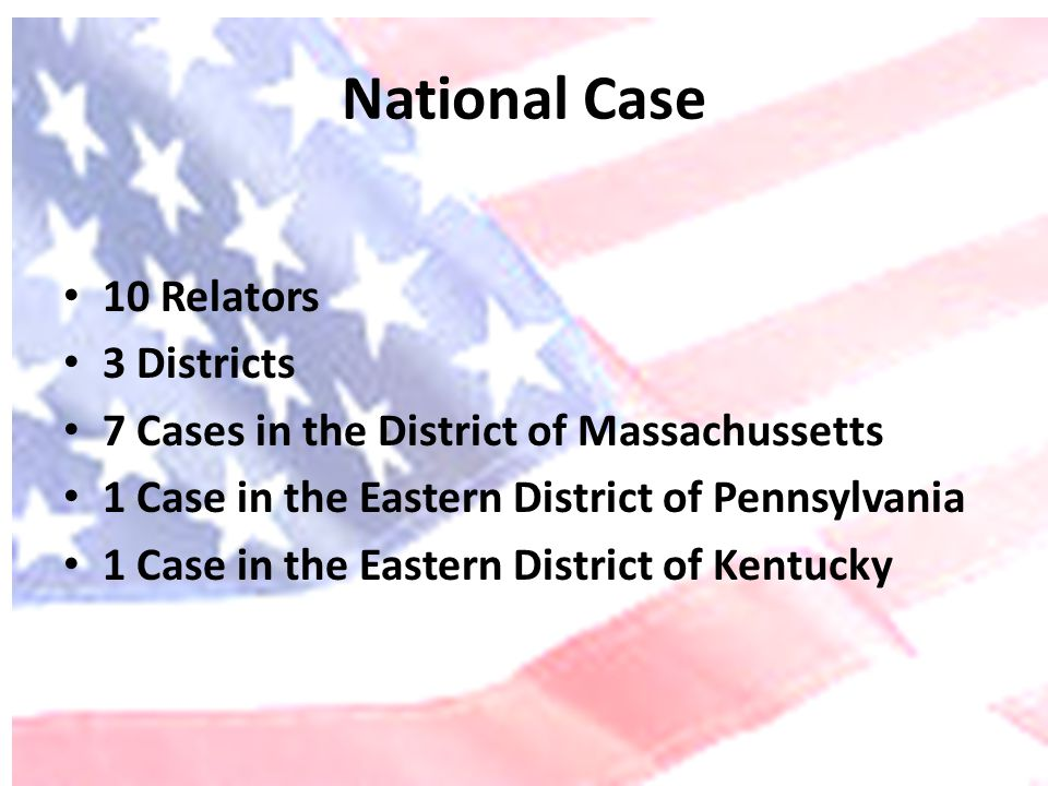 National Case 10 Relators 3 Districts
