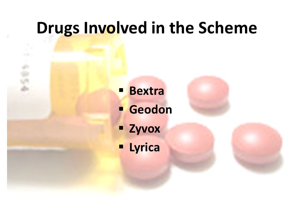 Drugs Involved in the Scheme