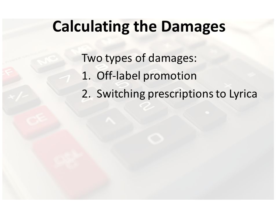 Calculating the Damages