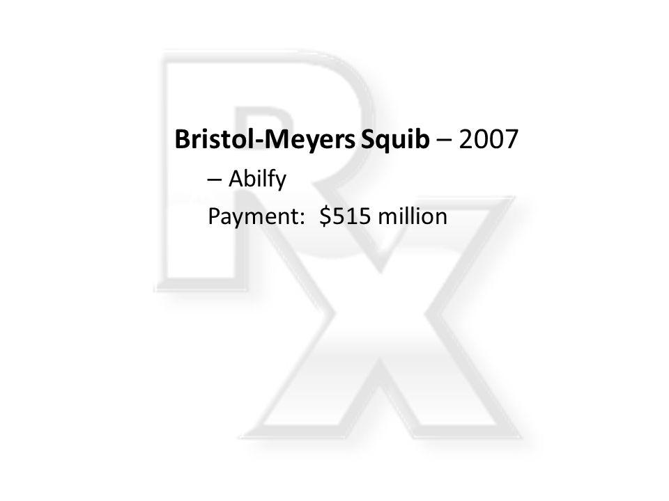 Bristol-Meyers Squib – 2007