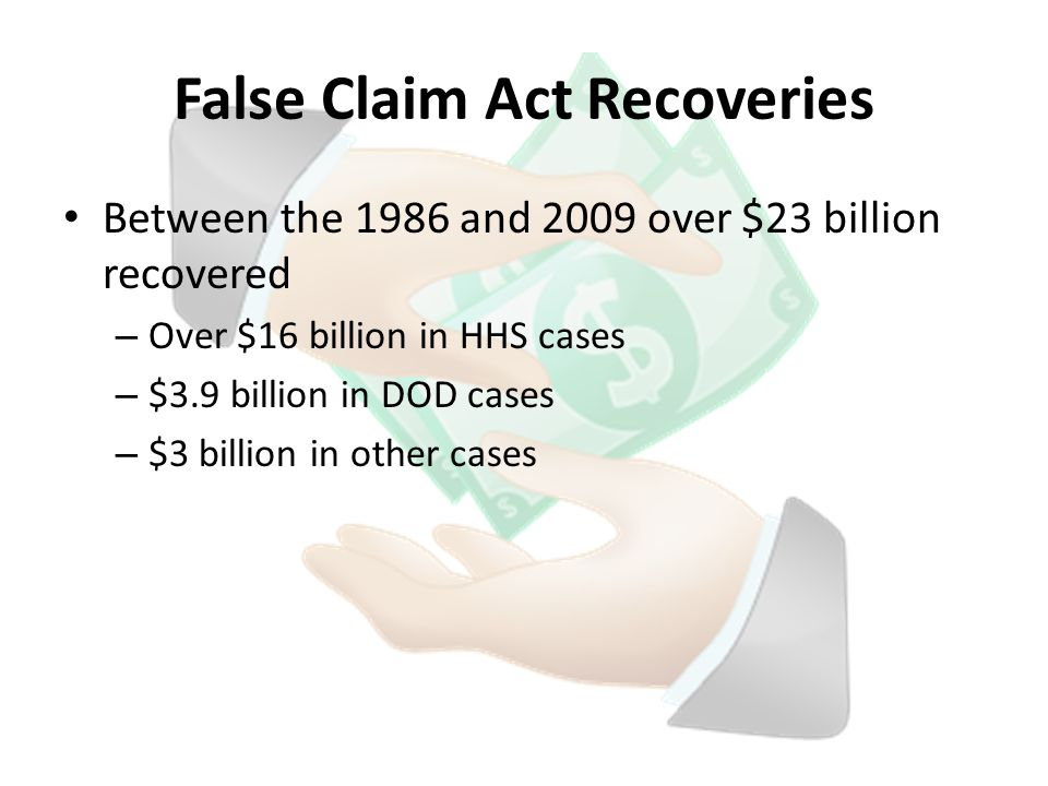 False Claim Act Recoveries