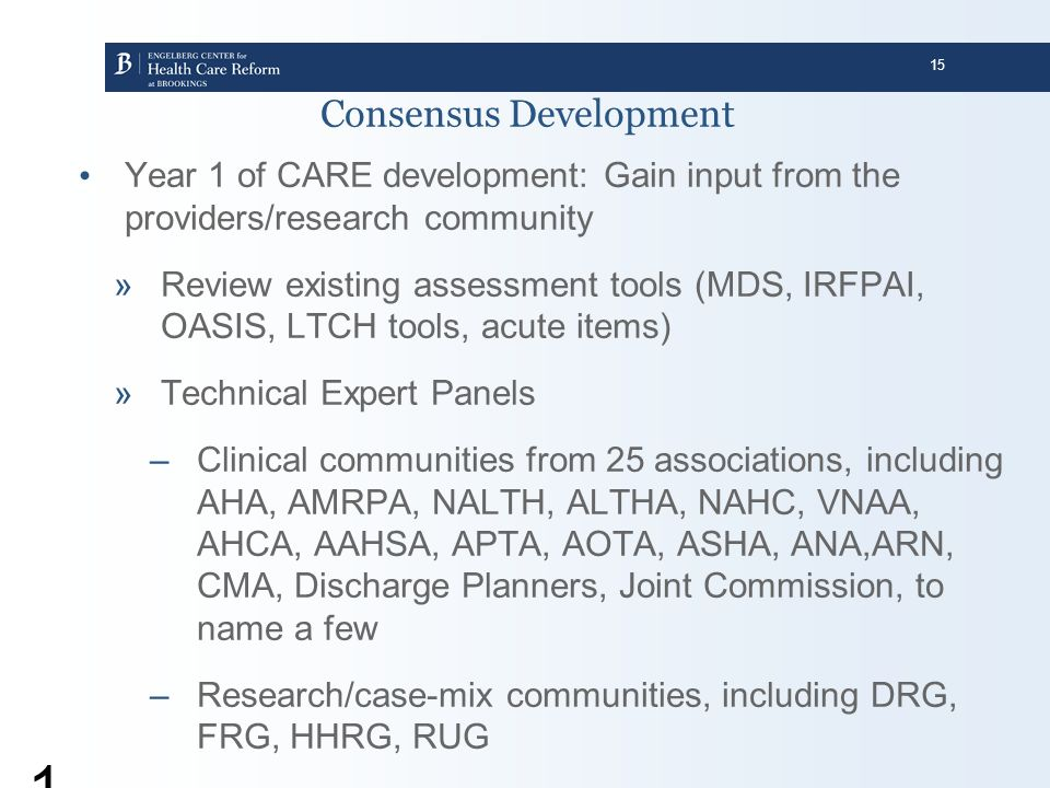 Consensus Development
